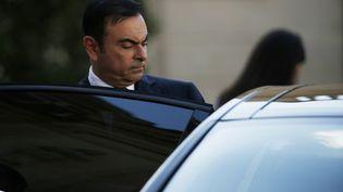 Carlos Ghosn quitte le palais de l'Elysée le 11 juin 2014. (THOMAS SAMSON / AFP)
