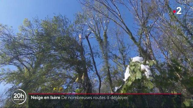 Neige : de nombreuses routes à déblayer en Isère