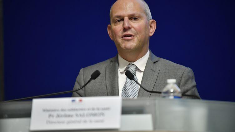 Le directeur général de la santé, Jérôme Salomon, lors d'une conférence de presse sur le nouveau coronavirus, à Paris, le 30 janvier 2020. (MAXPPP)