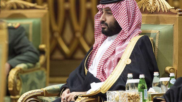 Le prince héritier d'Arabie saoudite, Mohammed ben Salmane, le 10 décembre 2019 à Riyad (Arabie saoudite). (BANDAR AL-JALOUD / SAUDI ROYAL PALACE / AFP)