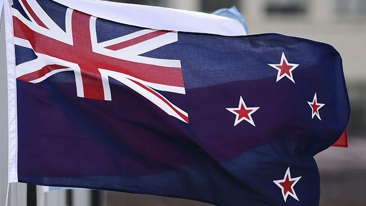 Le drapeau néo-zélandais actuel (MARTY MELVILLE / AFP)