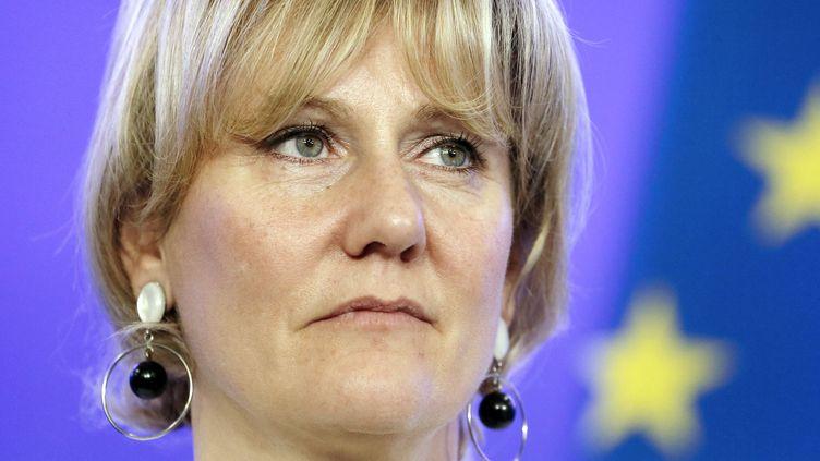 L'eurodéputée Nadine Morano, le 24 avril 2014, à Paris, au siège de l'UMP. (PATRICK KOVARIK / AFP)