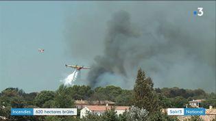 Incendie dans le Gard (France 3)