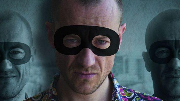 """Détail de l'affiche du documentaire """"Médo(s)"""", avec un Médéric Collignon aux multiples facettes (2013)  (Josselin Carré)"""