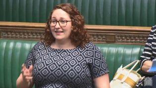 Capture d'écran d'une vidéo postée par la députée britanique Danielle Rowley sur Facebook, le 28 juin 2018. (DANIELLE ROWLEY / FACEBOOK)