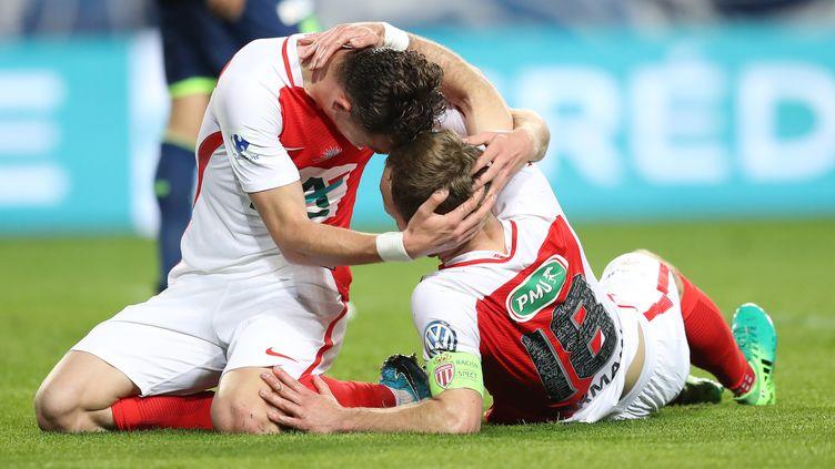 Germain et Cardona ont réveillé l'AS Monaco (VALERY HACHE / AFP)