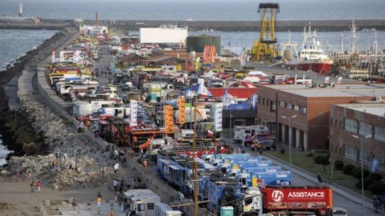 La base navale de Mar del Plata où converge le Dakar (JUAN MABROMATA / AFP)