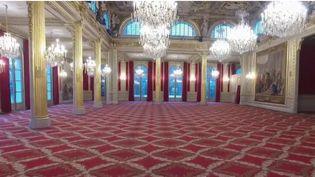 La salle des fêtes de l'Élysée s'apprête à être rénovée (CAPTURE ECRAN FRANCE 2)
