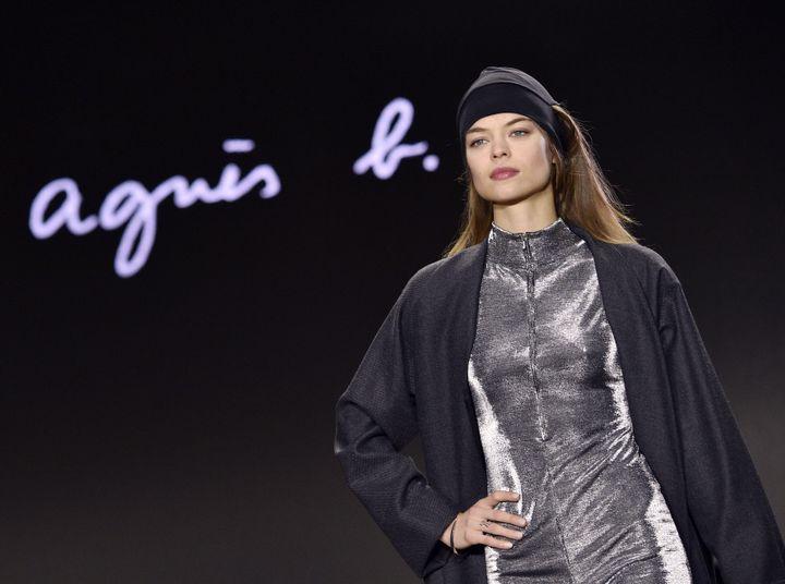 Agnès b. pap féminin ah 2016-17, à Paris  (MARTIN BUREAU / AFP)