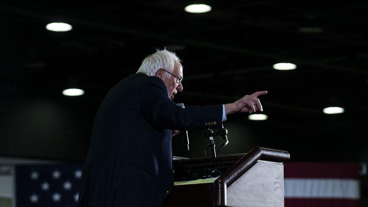 Le candidat aux primaires démocrates Bernie Sanders, le 6 mars 2020 à Detroit (Michigan). (BRITTANY GREESON / GETTY IMAGES NORTH AMERICA / AFP)