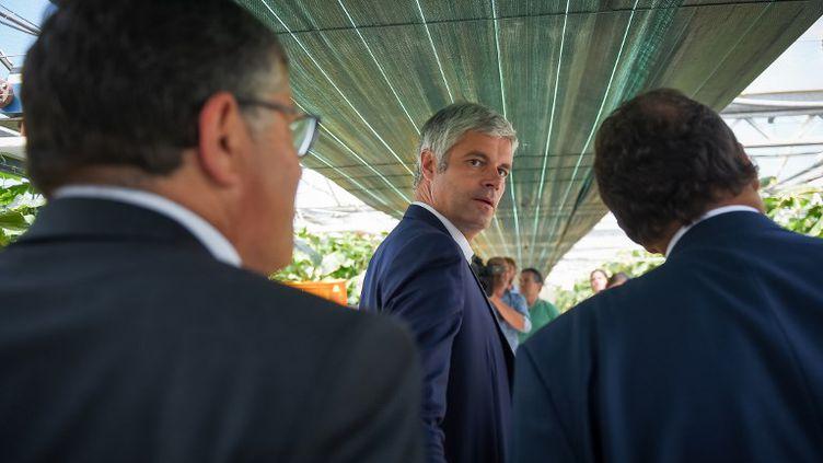 Le président des Républicains, Laurent Wauquiez, le 20 juin 2018 à Saint-Martin-le-Beau (Centre). (GUILLAUME SOUVANT / AFP)
