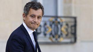 Le ministre de l'Intérieur Gérald Darmanin, le 13 octobre 2021 à l'Élysée, à Paris. (LUDOVIC MARIN / AFP)