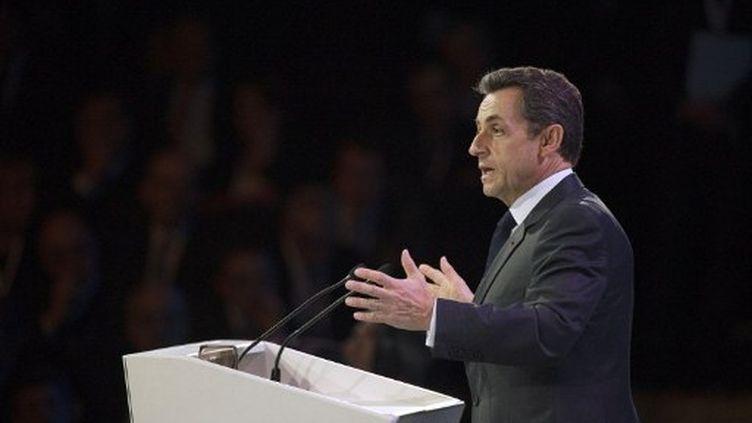 Nicolas Sarkozy le 13 mars à Paris (LIONEL BONAVENTURE / AFP)