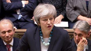 Theresa May devant le Parlement britannnique, le 10 décembre 2018 à Londres. (AFP)