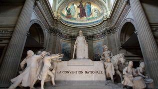 Sculpture en hommage à la Convention nationale à l'intérieur du Panthéon. (WILFRIED LOUVET / AFP)