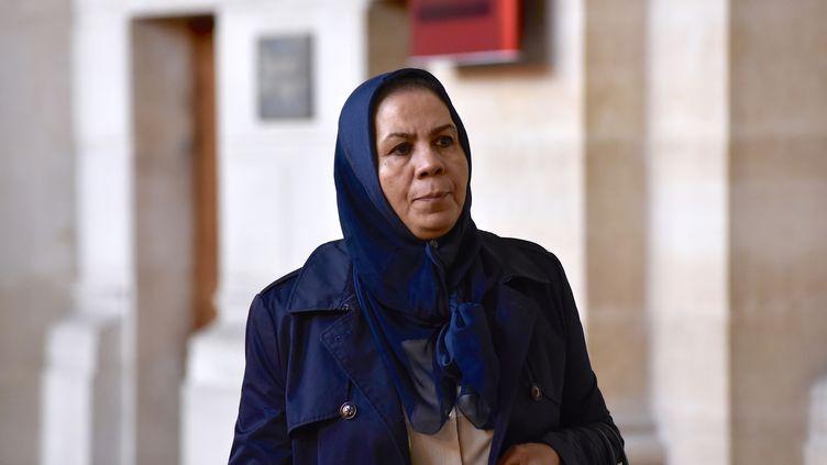 Latifa Ibn Ziaten, la mèred'une des victimes de Mohamed Merah, le 5 octobre 2017, au palais de justice de Paris, lors du procès d'Abdelkader Merah. (PATRICE PIERROT / CITIZENSIDE / AFP)