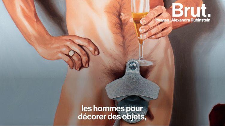 L'artiste engagée passe par la peinture pour pointer la sexualisation de la femme dans la société. Rencontre. (BRUT)