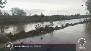 Les inondations ont touché mercredi 23 octobre près d'un millier d'habitants à Béziers (Hérault). Le Var n'a pas été épargné non plus. (FRANCE 2)