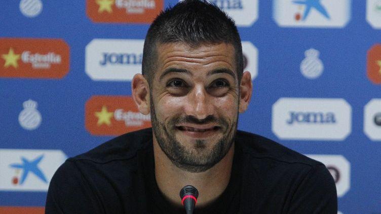 Le gardien de but Kiko Casilla tout sourire (QUIQUE GARCIA / AFP)