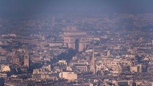 Paris et la pollution aux partivules fines, le 29 décembre 2016. (LIONEL BONAVENTURE / AFP)