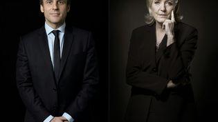 Emmanuel Macron et Marine Le Pen, candidats à l'élection présidentielle, s'affronteront lors du second tour du scrutin, le 7 mai 2017. (ERIC FEFERBERG / AFP)