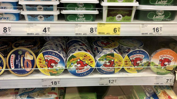 Les produits français n'ont pas disparu des rayons dans les supermarchés turcs. (NOEMIE BONNIN / RADIO FRANCE)