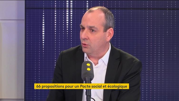 Laurent Berger, secrétaire général de la CFDT, invité de franceinfo. (FRANCEINFO)