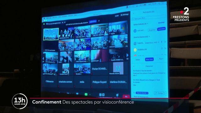Confinement : des spectacles diffusés en visioconférence