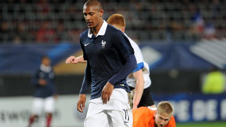 Sébastien Haller, l'attaquant de l'équipe de France Espoirs (FRANCOIS LO PRESTI / AFP)