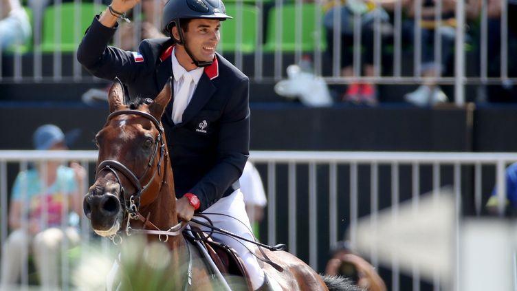 Le cavalier français Astier Nicolas, médaillé d'or et d'argent à Rio, le 9 août 2016. (FRISO GENTSCH / DPA)