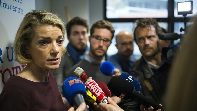 Anne Levade, présidente de la Haute autorité de la primaire à droite, annonce le mode d'emploi, le 22 avril 2016, à Paris. (MARTIN BUREAU / AFP)