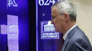 Patrick Strzoda, directeur de cabinet d'Emmanuel Macron, juste avant son audition par la commission d'enquête de l'Assemblée nationale, le 24 juillet 2018. (THOMAS SAMSON / AFP)