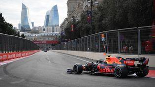 Sergio Perez (Red Bull) remporte un GP d'Azerbaïdjan complètement fou. (NATALIA KOLESNIKOVA / AFP)