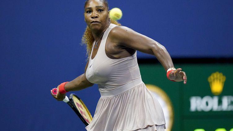 Serena Williams lors de son match face à Victoria Azarenka, jeudi 10 septembre, à New York.  (FRANK FRANKLIN II/AP/SIPA / SIPA)