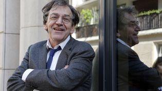 Le philosophe et essayiste Alain Finkielkraut, le 10 avril 2014 à Paris. (FRANCOIS GUILLOT / AFP)