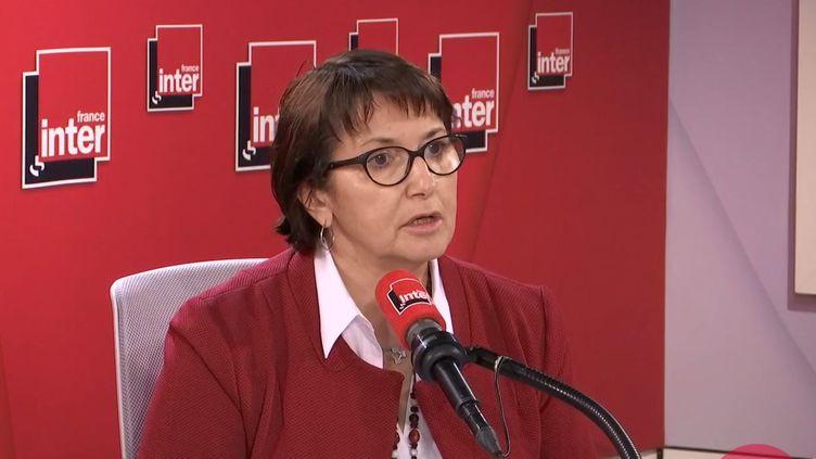 Christiane Lambert, présidente de la FNSEA, le 20 février sur France Inter. (FRANCE INTER / RADIO FRANCE)