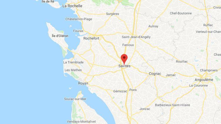 La ville de Saintes en Charente-Maritime. (GOOGLE MAPS / FRANCETV INFO)