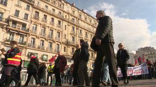 Jeudi 16 janvier marque une nouvelle journée de mobilisation nationale contre la réforme des retraites. Des manifestations sont organisées un peu partout en France, notamment à Marseille (Bouches-du-Rhône). (FRANCE 2)