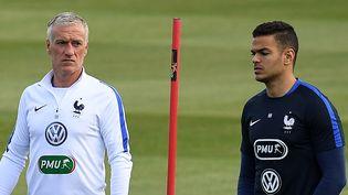 Le sélectionneur de l'équipe de France lors d'une séance d'entraînement à Clairefontaine (Yvelines), le 26 mai 2016.  (FRANCK FIFE / AFP)