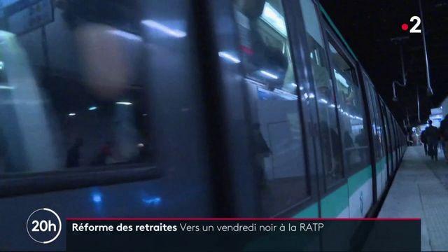 Grève à la RATP : les transports bloqués vendredi pour protester contre la réforme des retraites