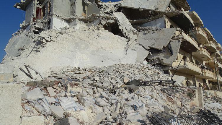 Bombardement d'Alep le 15 juillet 2016 (AHMED MUHAMMED ALI / ANADOLU AGENCY)