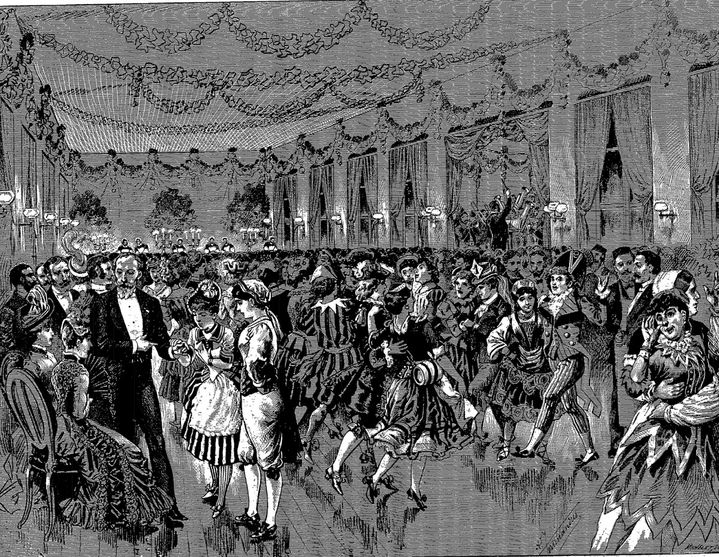 Le bal des folles à la Salpêtrière en 1888. (BNF Gallica)