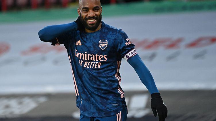 Alexandre Lacazette a inscrit un doublé avec Arsenal face à Sheffield United (LAURENCE GRIFFITHS / POOL)