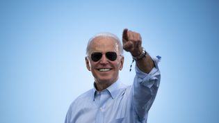Joe Biden lors d'un meeting de campagne à Coconut Creek, en Floride, le 29 octobre 2020. (JIM WATSON / AFP)