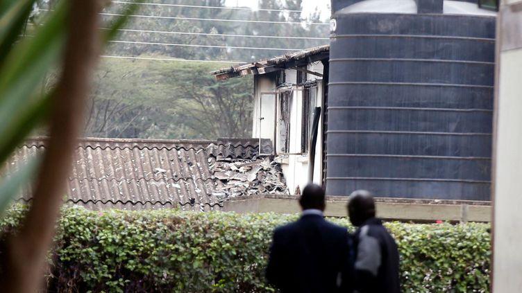 Ecole Moi incendiée le 2 septembre 2017 à Nairobi au Kenya. (REUTERS/Baz Ratner)