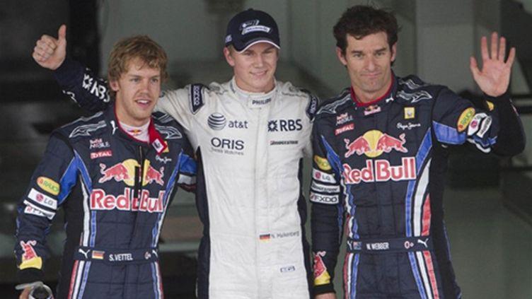 Hulkenberg (Williams) - Webber Vettel - Red Bull