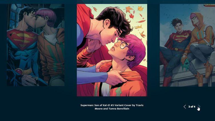 """""""Fils de Kal-El"""", Capture d'écran, site DC Comics (DC COMICS)"""