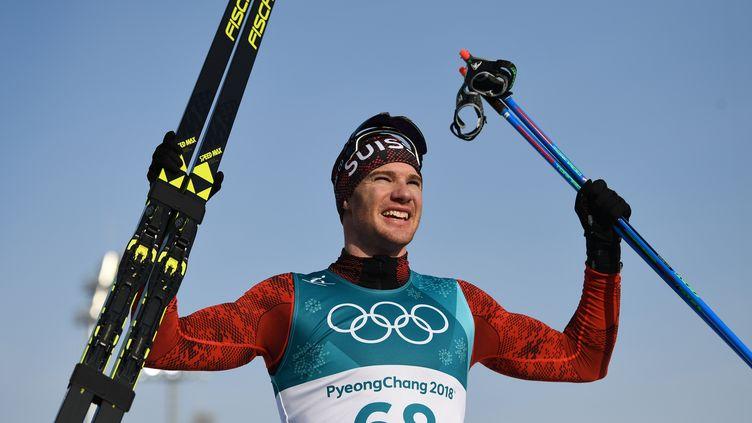 Dario Cologna roi du 15 km à PyeongChang (FRANCK FIFE / AFP)