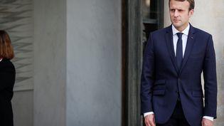 Emmanuel Macron au palais de l'Elysée, le 11 octobre 2017 (THOMAS PADILLA)