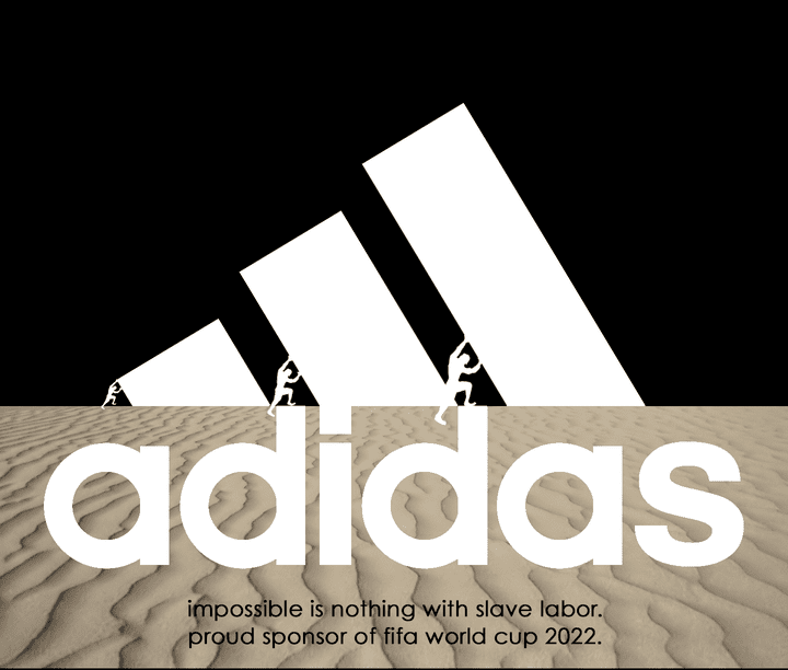 Le logo d'Adidas détourné par les internautes. (IMGUR.COM)